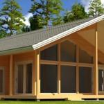 Готовые проекты домов из клееного бруса