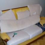 Обивка старой мягкой мебели