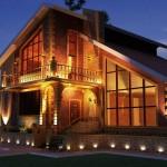 Архитектурное и ландшафтное освещение дома