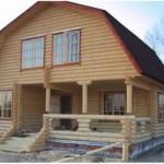Возведение домов из оцилиндрованного бревна