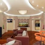 Простой дизайн гостиной комнаты