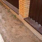 Как заливать забор